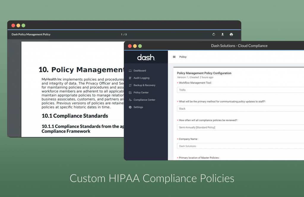 custom hipaa policies