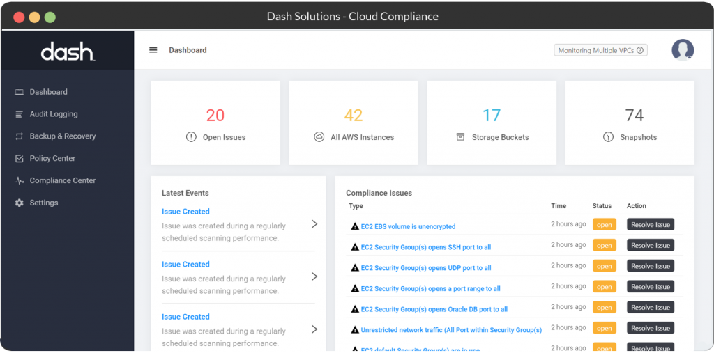dash hipaa compliance platform