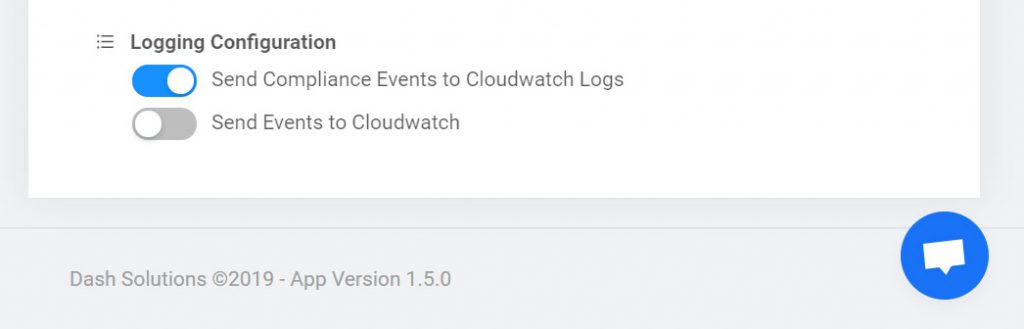dash audit logging cloudwatch