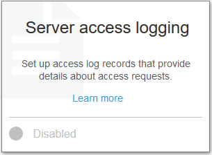enable s3 server access logging