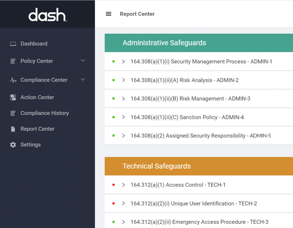dash cloud compliance