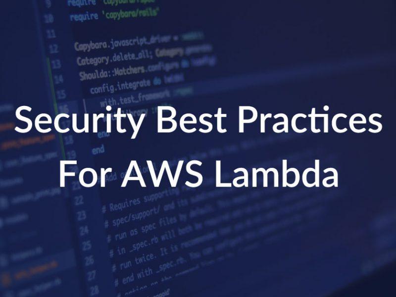 best security practices for lambda