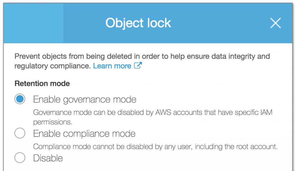 S3 object lock
